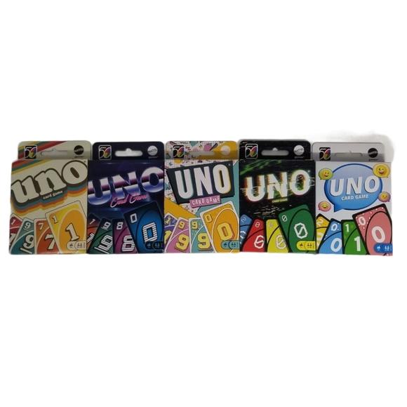 Uno 50th Anniversary set of 5 decks
